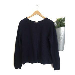 J. Crew | Merino Wool Navy XL Crewneck Sweater